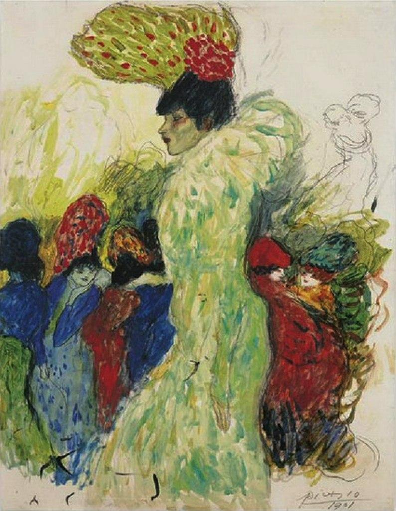 """Пабло Пикассо. """"Мулен Руж (дочь африканского короля)"""". 1901."""