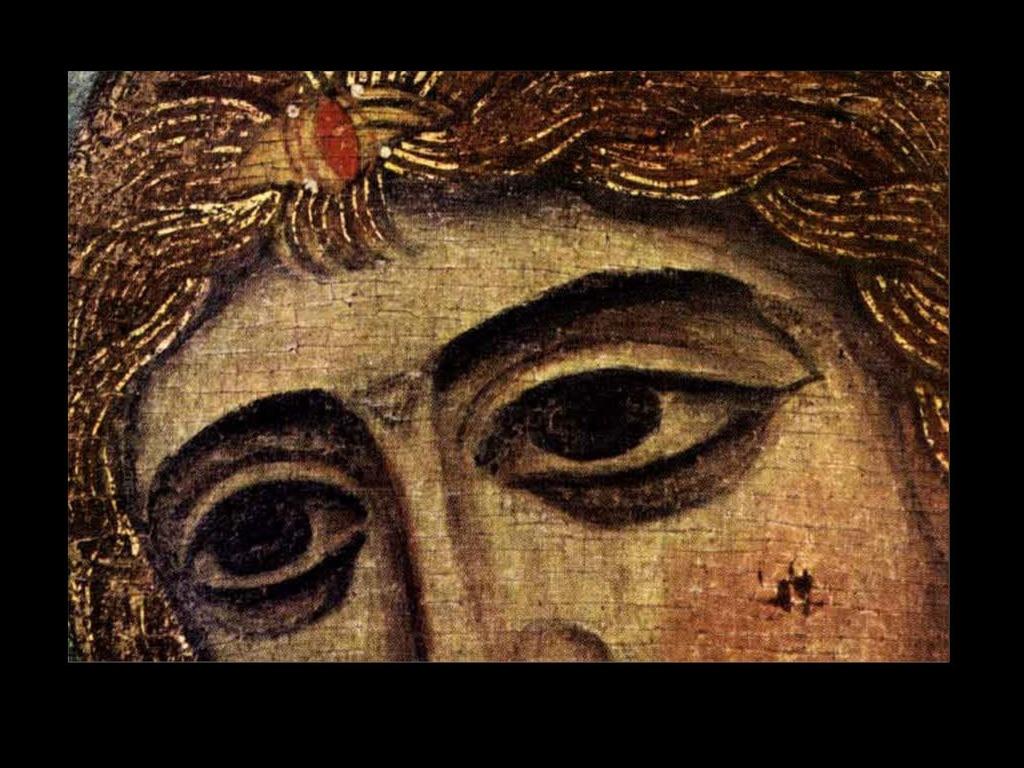 """""""Ангел золотые власы""""... Главное, что притягивает взгляд - это огромные, широко раскрытые миндалевидные глаза. В них сосредоточилась вся духовная глубина образа: эмоциональность и созерцательность..."""