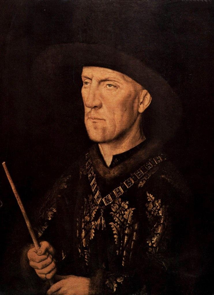 Ян ван Эйк. Портрет Бодуэна де Ланоя. 1435.  Государственный музей, Берлин.