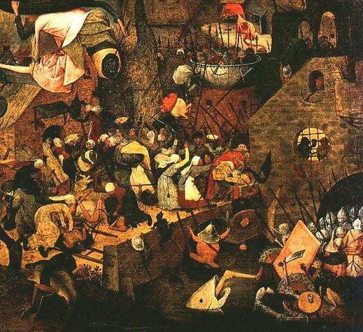 """Питер Брейгель Старший. """"Безумная Грета"""". 1562. Женщины пытаются остановить всеобщее безумие"""
