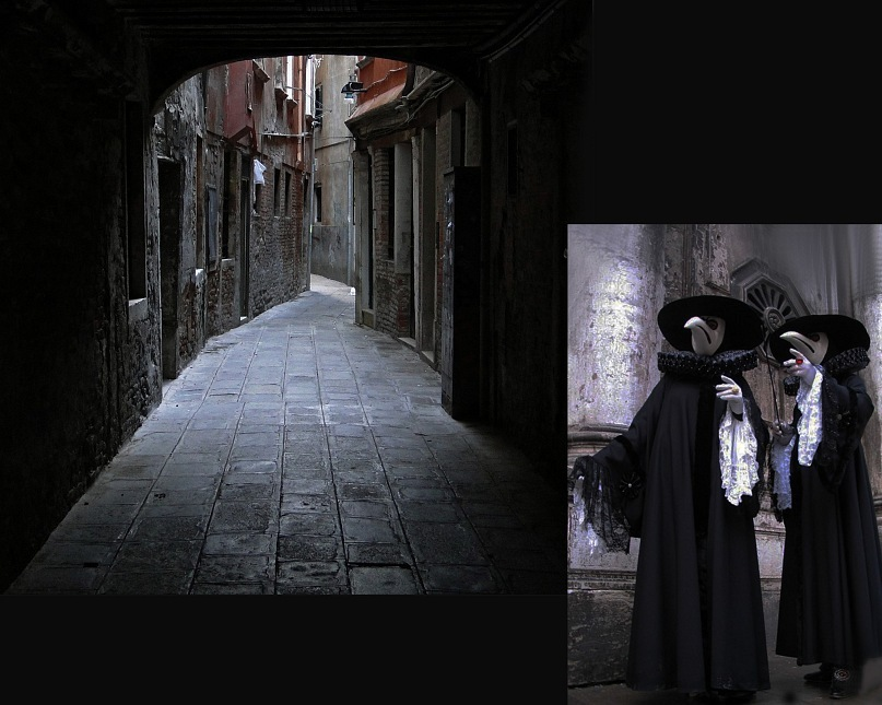 """""""Недра Венеции"""" - бесконечная вязь не только каналов, но и улочек, каждая из которых ведет в тупик. Это - не кажимость. При стоячем, гнилостном воздухе, за каждым поворотом не может не видеться """"Доктор Смерть"""". Здесь их двое."""
