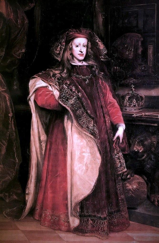 """Карл II, родился в.1661 г. в Мадриде. С 1665 г. номинальный король. (""""Правил"""" страной 35 лет. Скончался в.1700 г. в Мадриде, погребен в королевском пантеоне в Эскориале"""