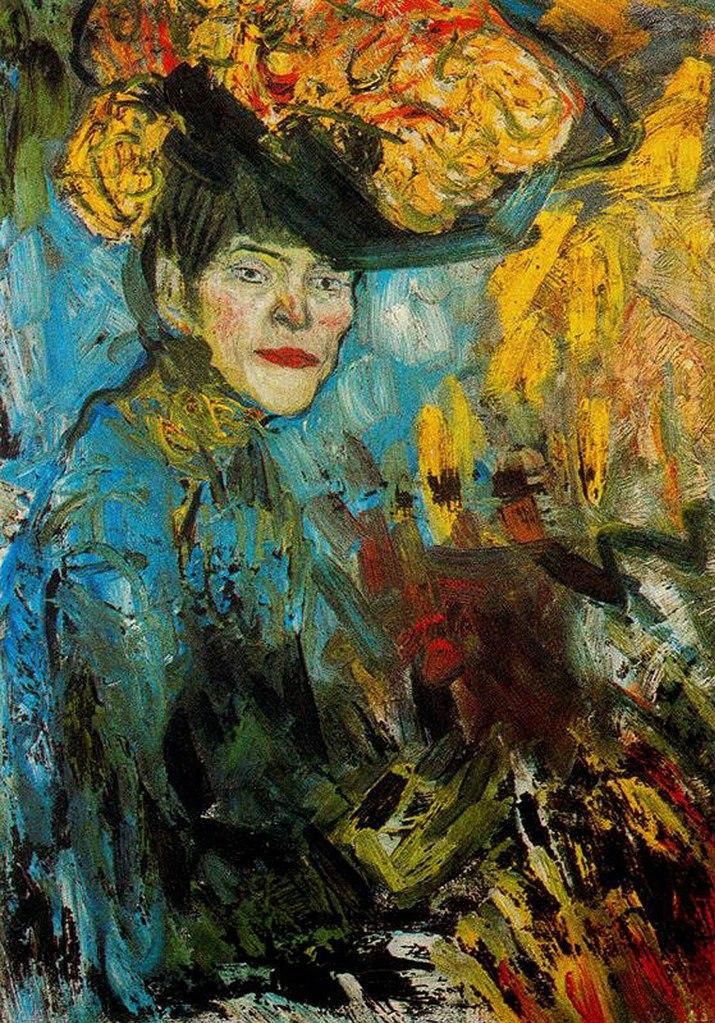 "Пабло Пикассо. ""Муллен Руж. Посетительница"". 1902."