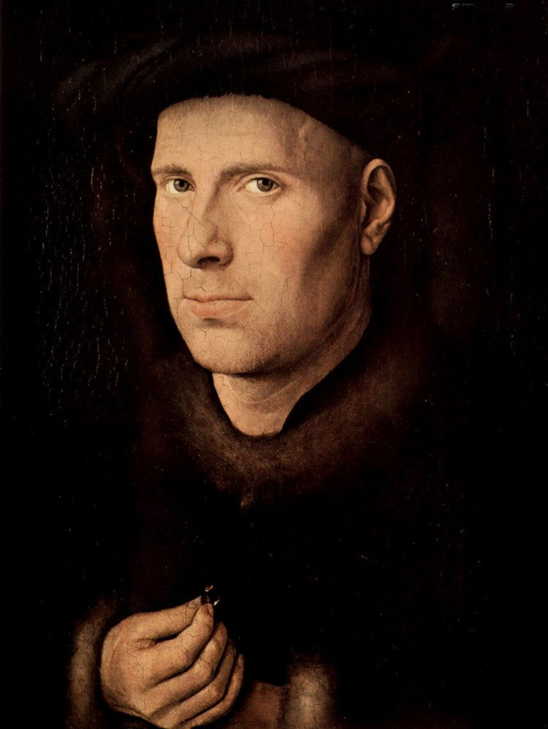Ян ван Эйк. Портрет Яна де Леув. 1436. Художественно-исторический музей, Вена.