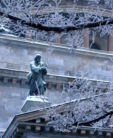 Исаакиевский собор. Арх. О. Монферран. 1818-1858. Внешнее оформление - ск.: И. П. Витали, И. Герман.