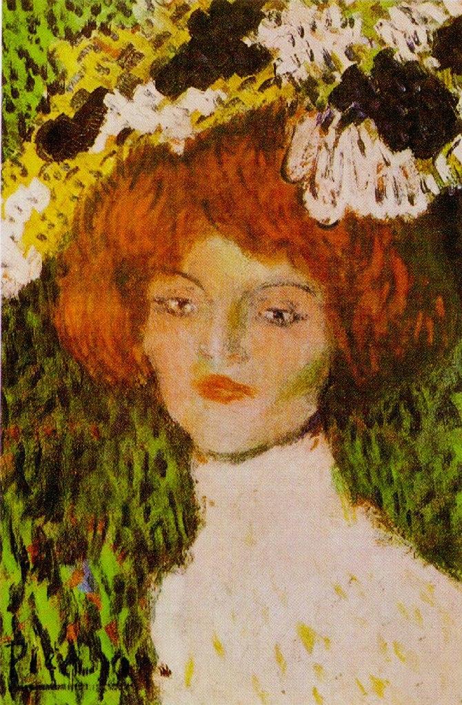"""Пабло Пикассо. """"Портрет девушки"""". 1901."""