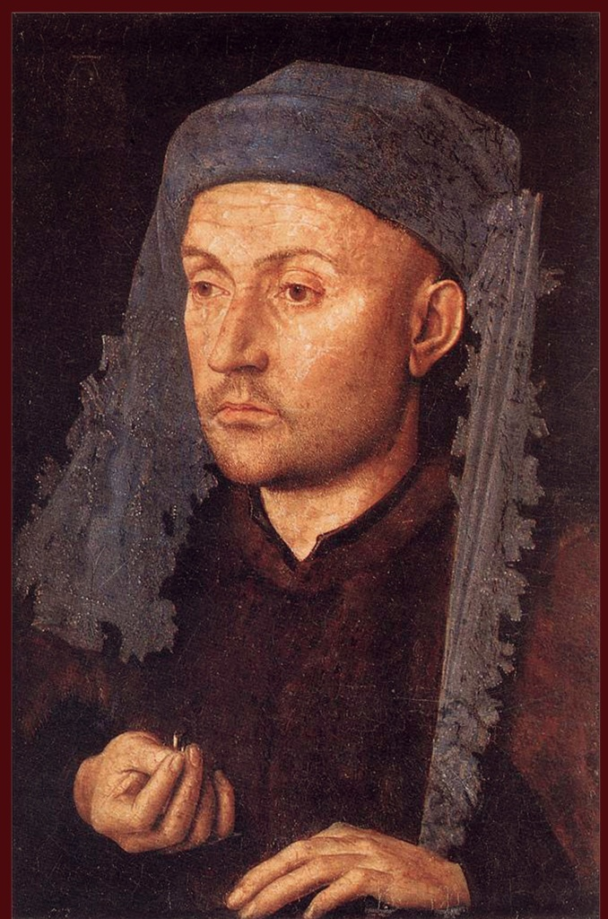 Ян ван Эйк. Портрет Ювелира (Человек с Кольцом). Около 1430. Румынский Национальный музей, Бухарест.