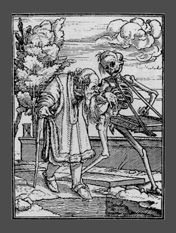 """Ганс Гольбейн Младший. """"Пляска Смерти"""". 1526 год - создание. 1538 - публикация. """"Старик"""""""