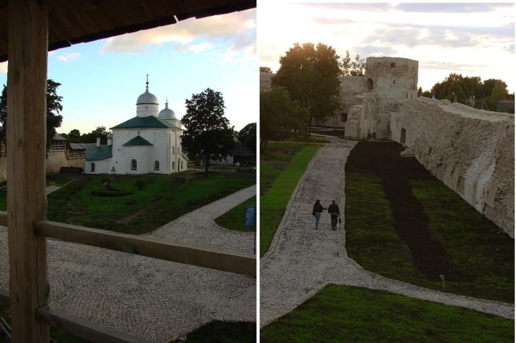 Крепостной двор с прогулочной террасы...