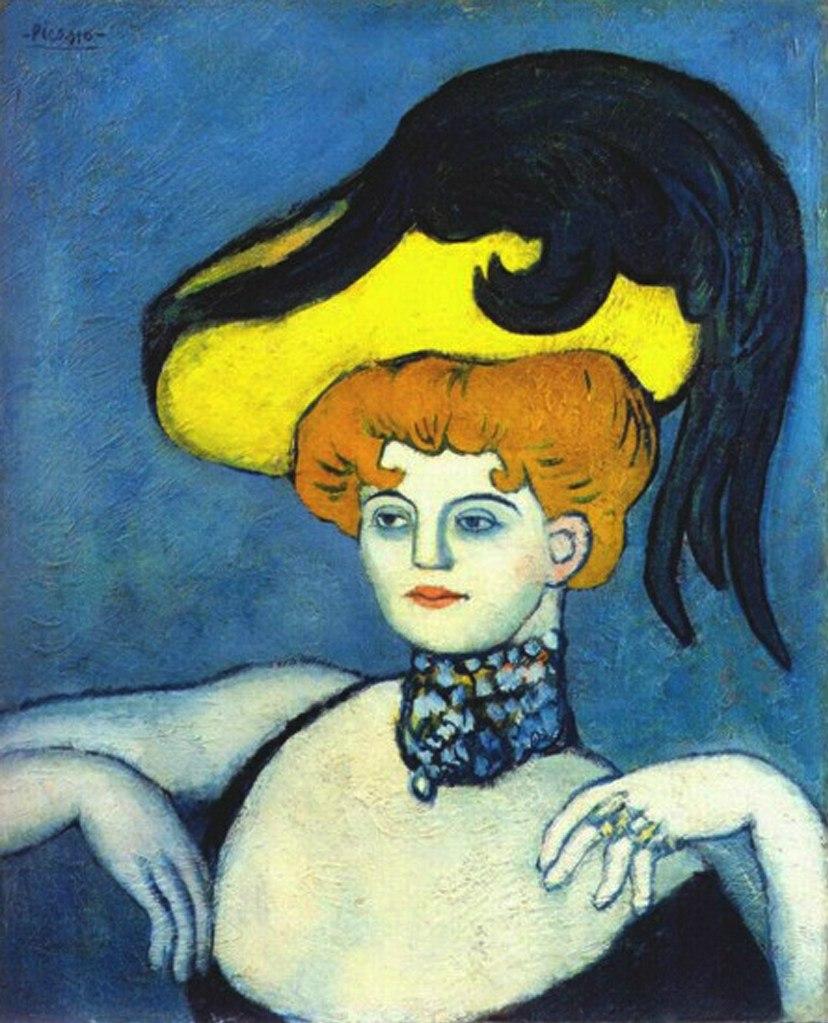 """Пабло Пикассо. """"Куртизанка в драгоценном ожерелье"""". 1901."""