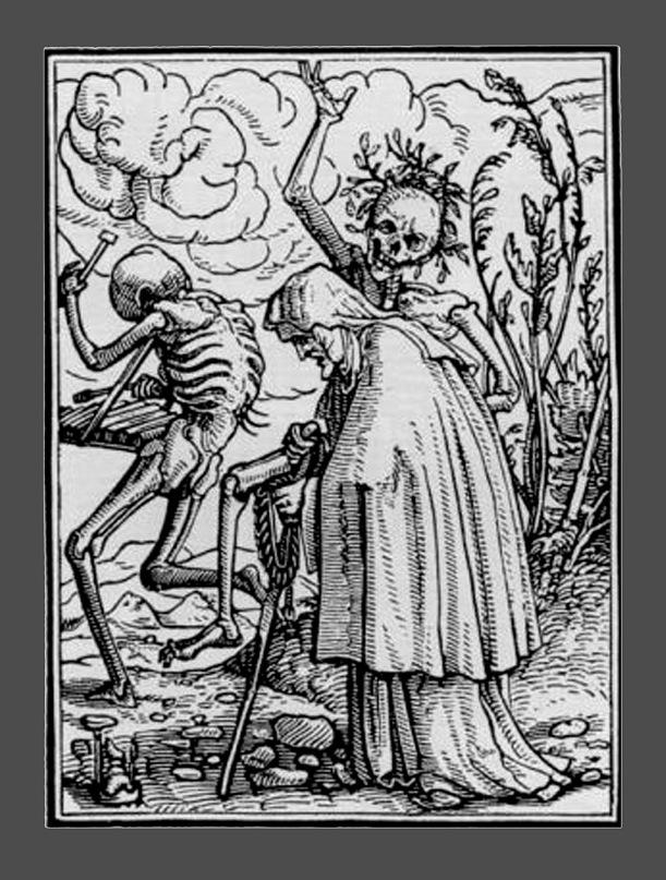"""Ганс Гольбейн Младший. """"Пляска Смерти"""". 1526 год - создание. 1538 - публикация. """"Старуха"""""""