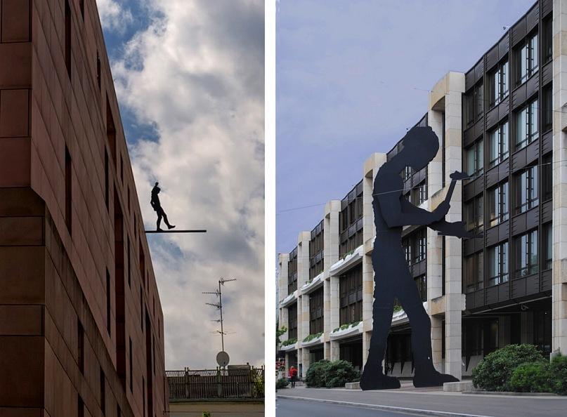 Базельская городская скульптура - необычайно красноречивая...