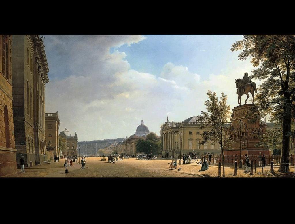 Берлин XIX века. Унтер-ден-Линден. Памятник Фридриху Великому....