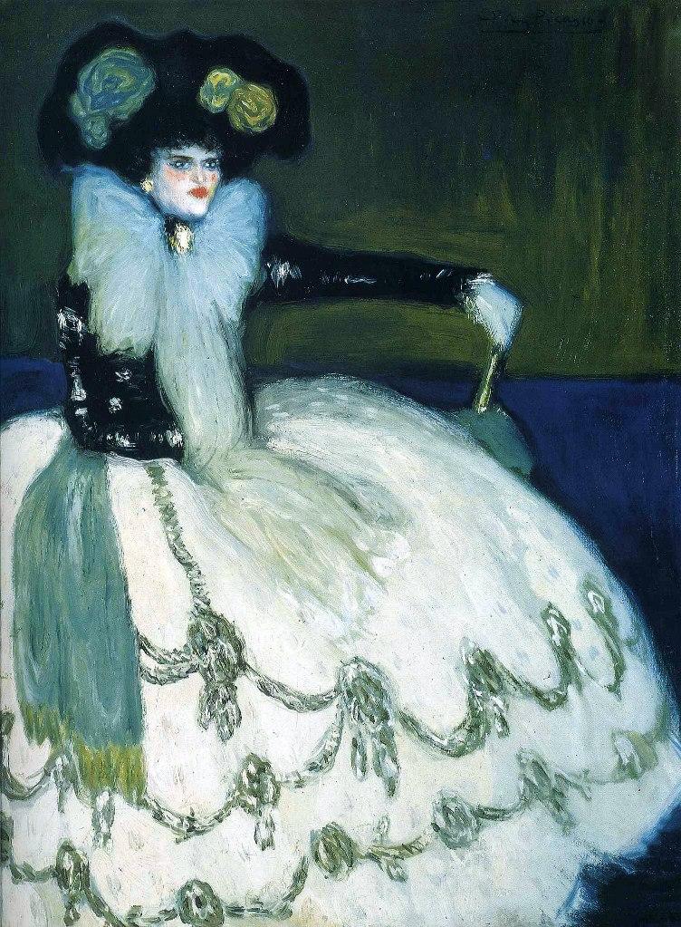 """Пабло Пикассо. """"Женщина в голубом"""". 1901."""