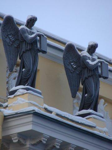 Сенат и Синод. К. Росси. 1829-1834. Ск.: С. С. и Н. С. Пименовы, В. Демут-Малиновский, С. Соколов.