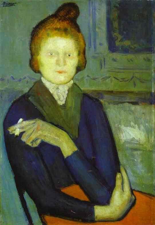 """Пабло Пикассо. """"Женщина с сигаретой"""". 1901."""