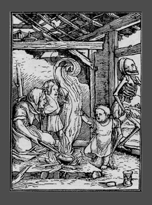 """Ганс Гольбейн Младший. """"Пляска Смерти"""". 1526 год - создание. 1538 - публикация."""