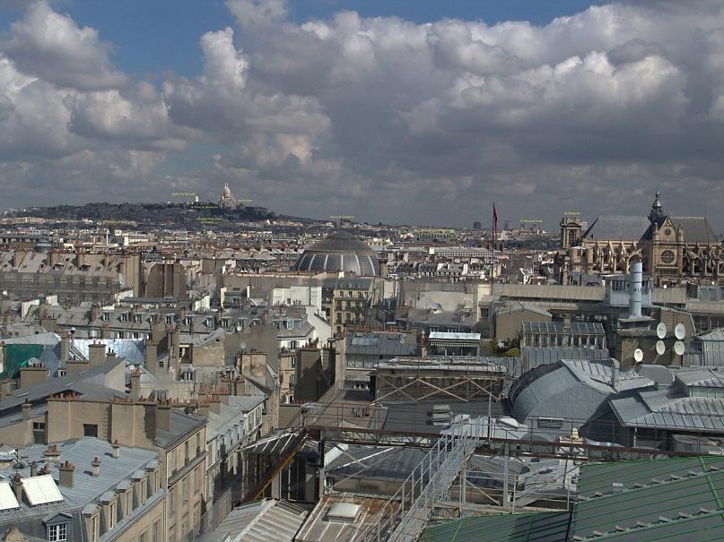 """Уникальная круговая панорама Парижа, полученная из 9 фрагментов.  Съемка осуществлялась с обзорной террасы универмага """"Самаритен"""" (Samaritaine). Фрагмент 9."""