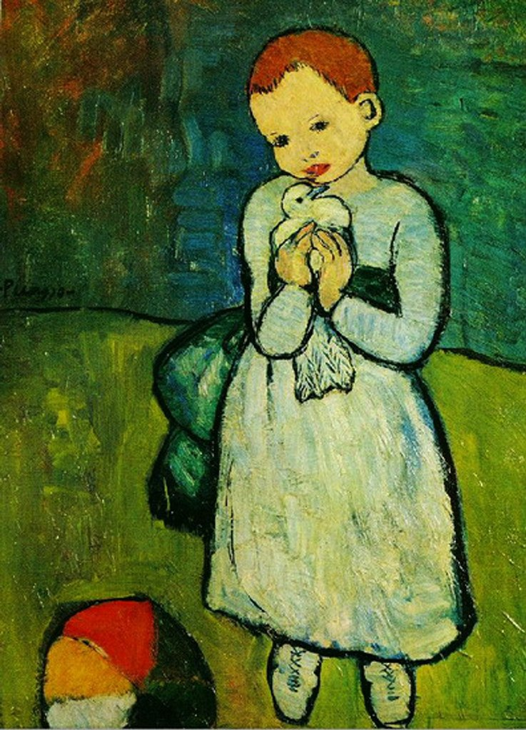 """Пабло Пикассо. """"Девочка с голубкой"""" 1901."""