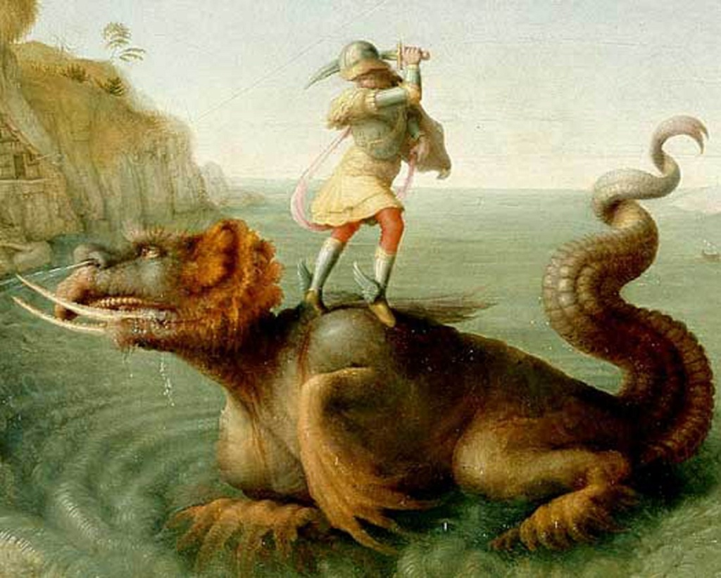 "XVI ВЕК. Пьеро ди Козимо. ""Персей, спасающий Андромеду"" (фрагмент).  1515 - 1520"