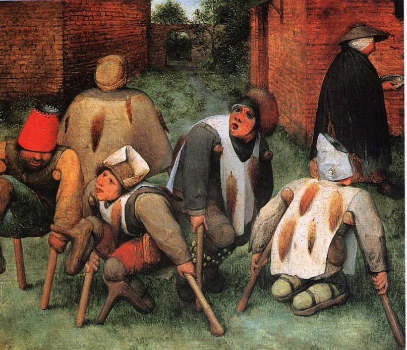 """Питер Брейгель Старший. """"Калеки"""". 1568"""