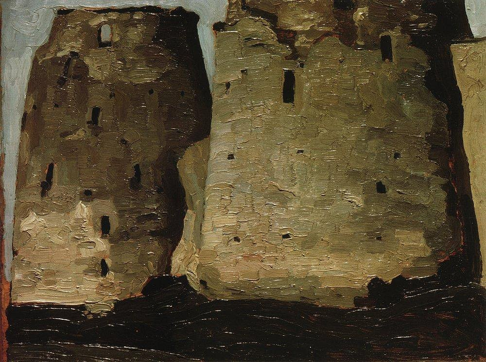 Н. К. Рерих. Изборск. Башни. 1900-е