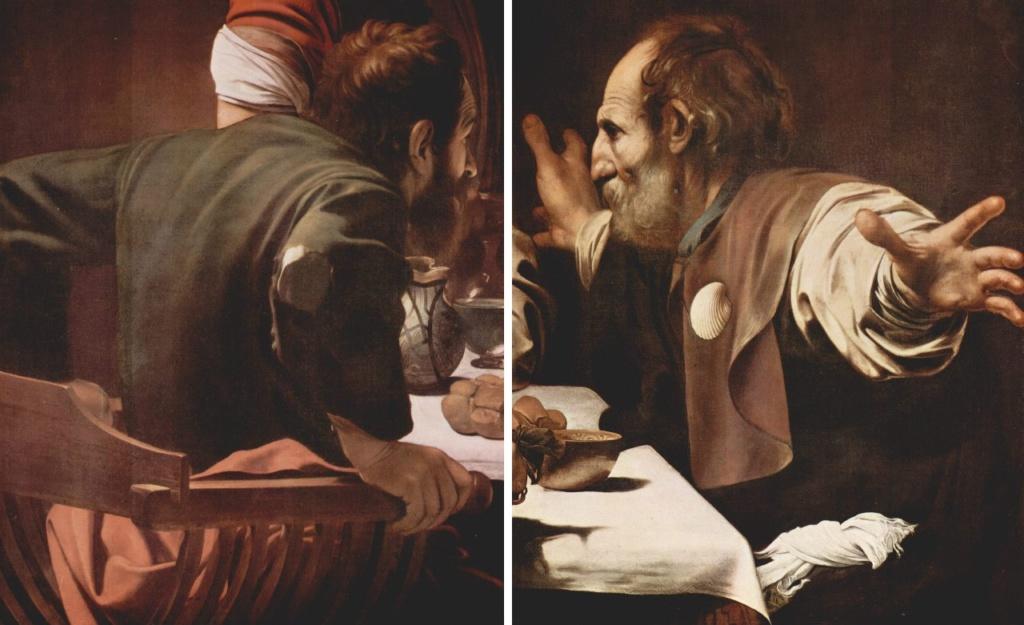 """Караваджо. """"Ужин в Эммаусе"""" 1601. Лондонская Национальная галерея. За работу Караваджо получил 150 крон."""