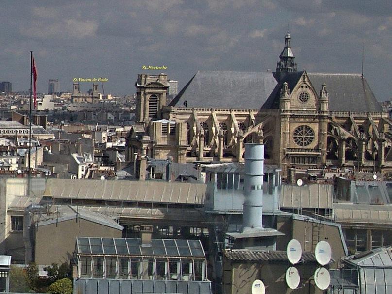 Круговая панорама Парижа. Фрагмент 9. Увеличение.
