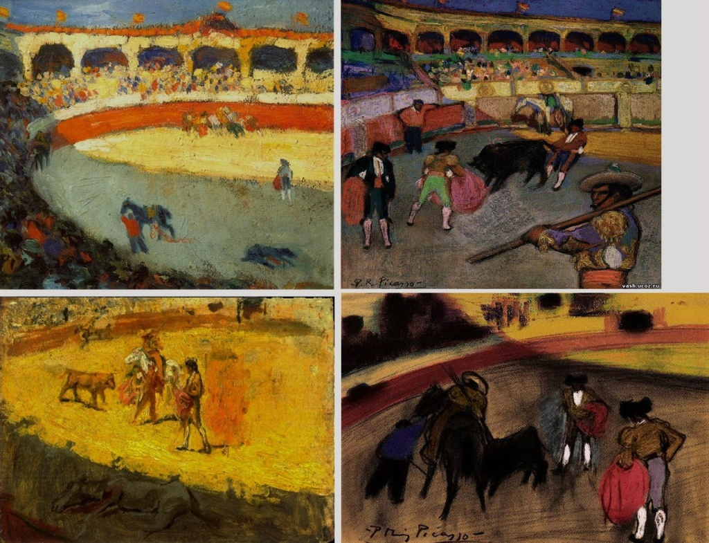 "Пабло Пикассо. ""Бои быков"". !901 - 1902."
