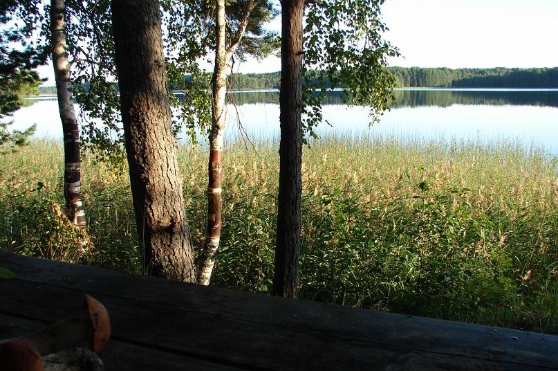Пока я чистила грибы, собирательницы их отдыхали. Как? Красоту озера Масельги созерцали и уходили в иные миры...