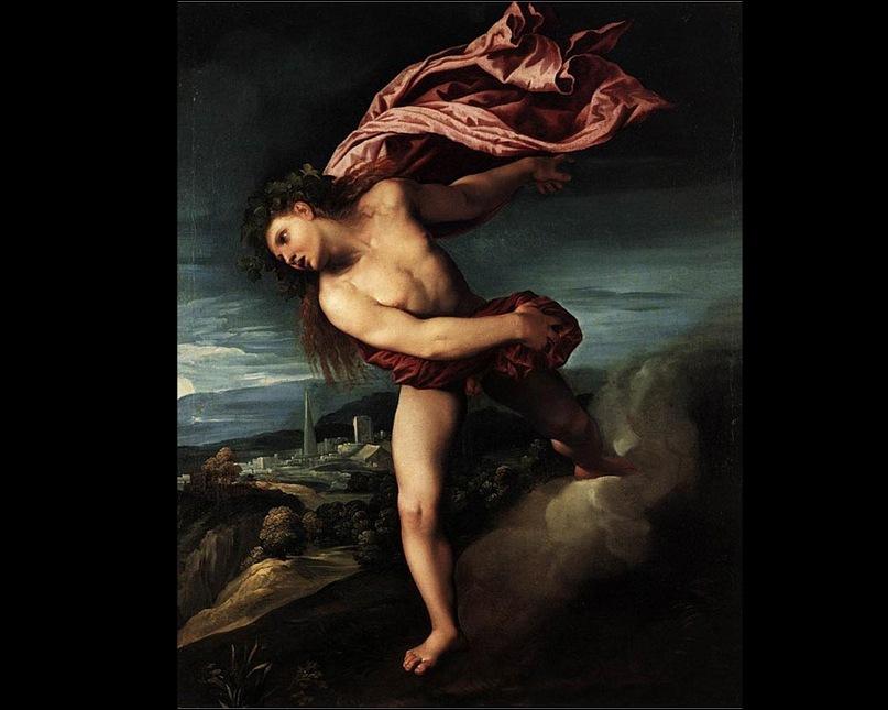 """""""Вакх"""". Доссо Досси. 1524. Итальянский живописец эпохи Позднего Возрождения. Учился в мастерской Лоренцо Косты, испытал влияние Джорджоне и Рафаэля. Работал при дворе герцогов в Ферраре, Мантуе, Венеции..."""