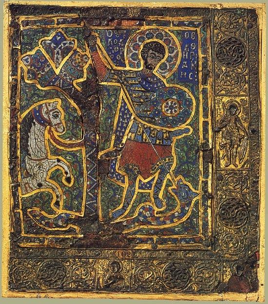 Один из ранних византийских образов Св. Георгия.