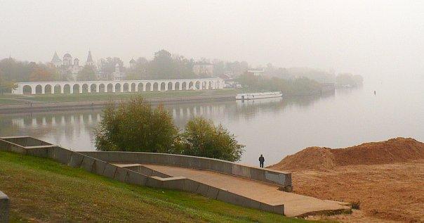 Ярославо Дворище. Туман
