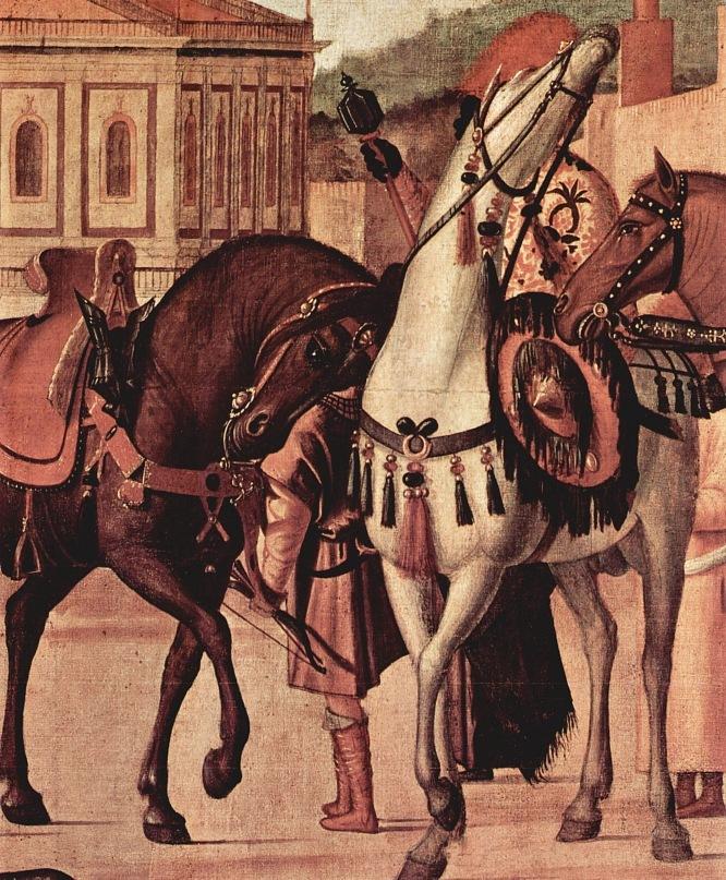 "XVI ВЕК. Италия. Венецианская школа. Витторе Карпаччо. ""Триумф святого Георгия"" (фрагмент). 1502-1507. Венеция. Scuola di San Giorgio degli Schiavoni"