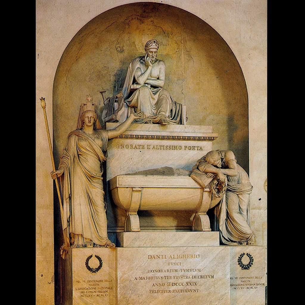 Флоренция. Собор Санта-Кроче. Пышный, многословный саркофаг Данте, что ждет того, кому он предназначен, и будет ждать вечно