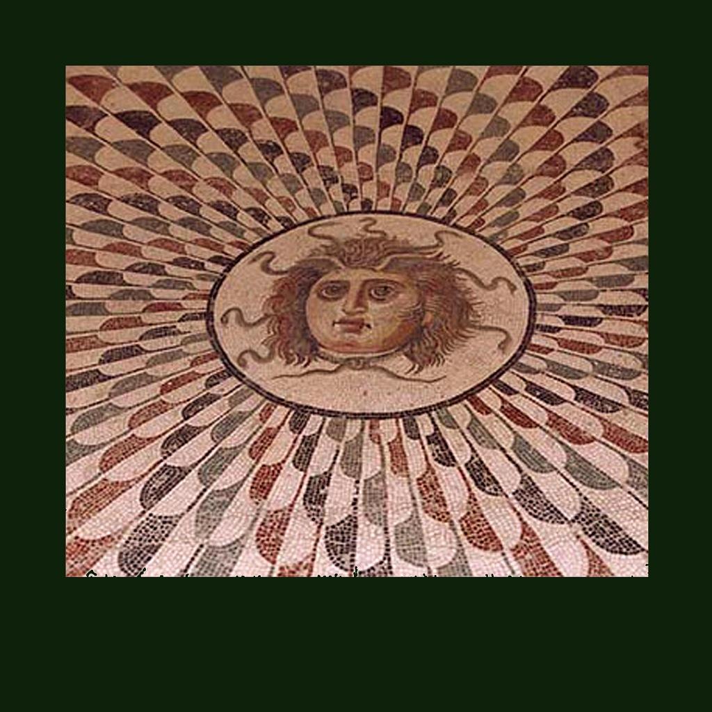Римская напольная мозаика из коллекции Археологического музея в Сусе - античном городе-колонии Гадрумет (Тунис). 150-200 годы н.э.