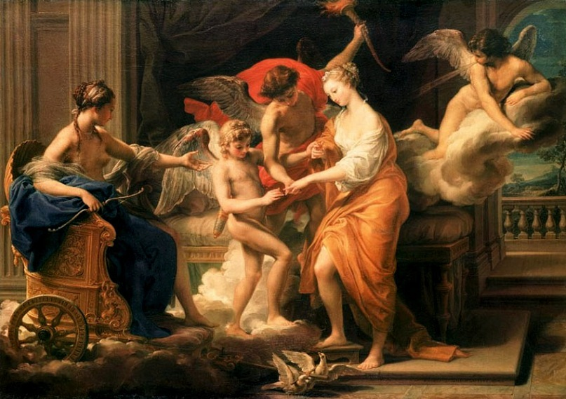"""Помпео Батони. """"Бракосочетание Амура и Психеи"""". 1756. Батони - известный итальянский живописец стиля рококо и неоклассицизма, весьма признанный европейской аристократией."""