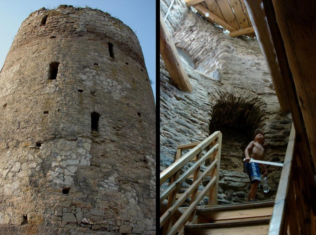 Изборск. Башня Луковка. Внешний вид и интерьер.