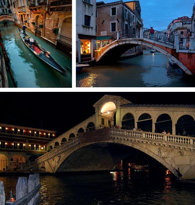 """Венеция """"в тающих в воздухе звуках серенад"""" и """"под крупно вызвездившимся небом"""" - черным..."""
