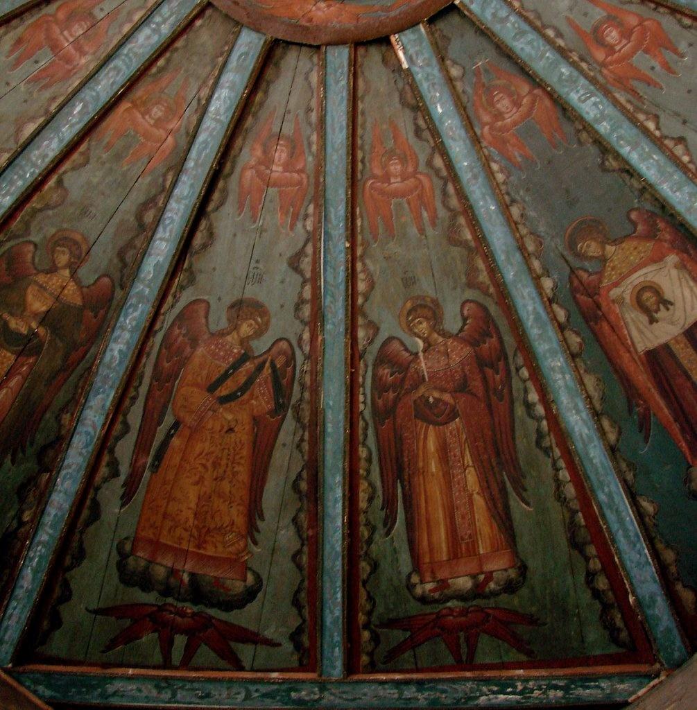 """Церковь Успения в Кондопоге. Молельный зал. """"Небо"""""""