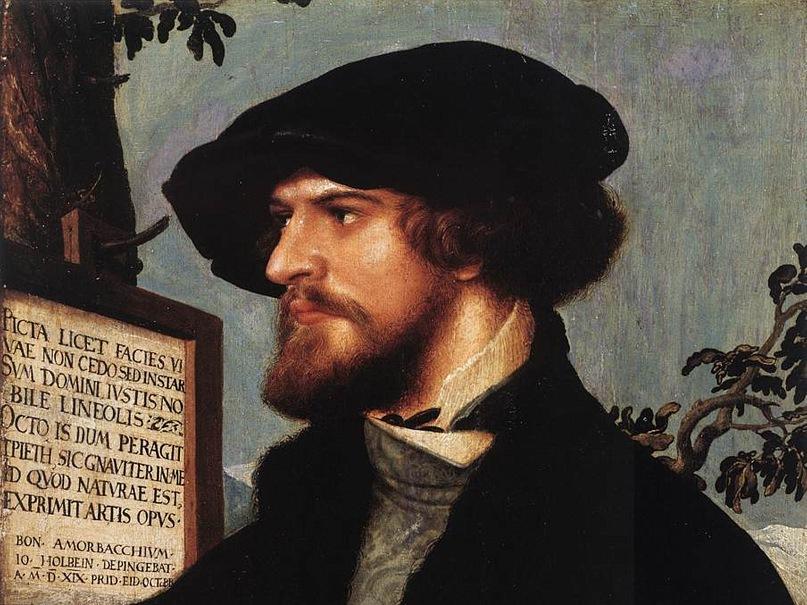 Ганс Гольбейн Младший. Портрет Бонифация Амербаха. 1519. Базель