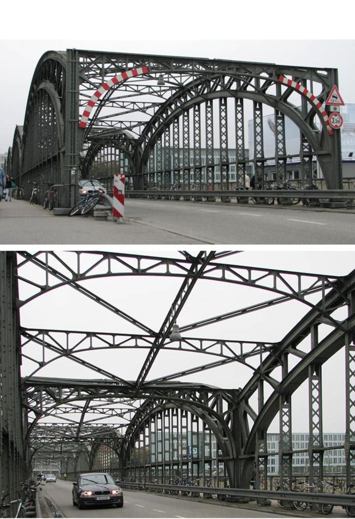 """Просвещенные туристы пишут, что у Мюхенского и Петербургского мостов """"очень сходное базовое решение"""". Я думаю, на художественный уровень Мюнхенский мост даже не поднимается, оставаясь чисто инженерной конструкцией. Петербургский - не то..."""