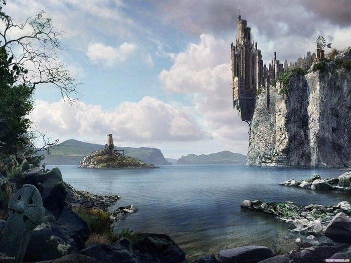 Рафаэль Лакоста. Видения замков на скалах...