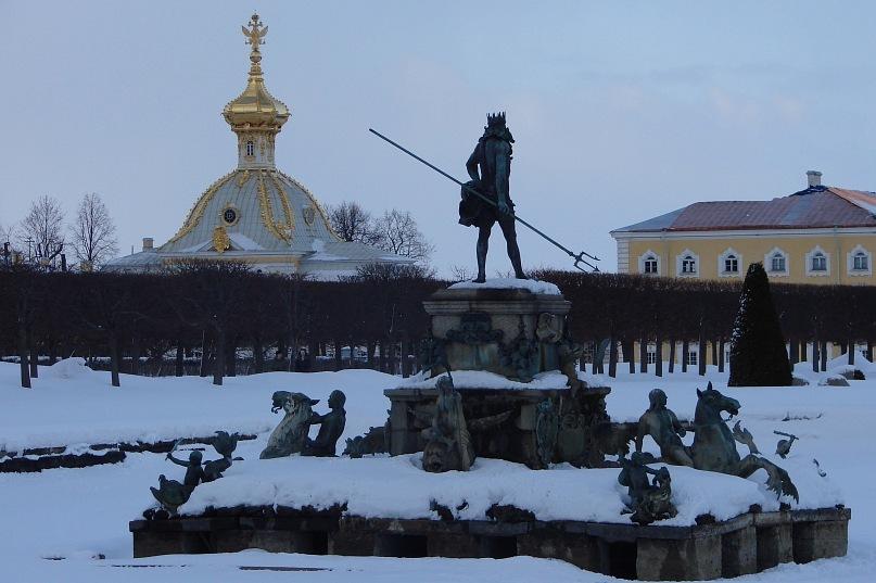 "Верхний сад Большого Петергофского дворца. Фонтан ""Нептун"""