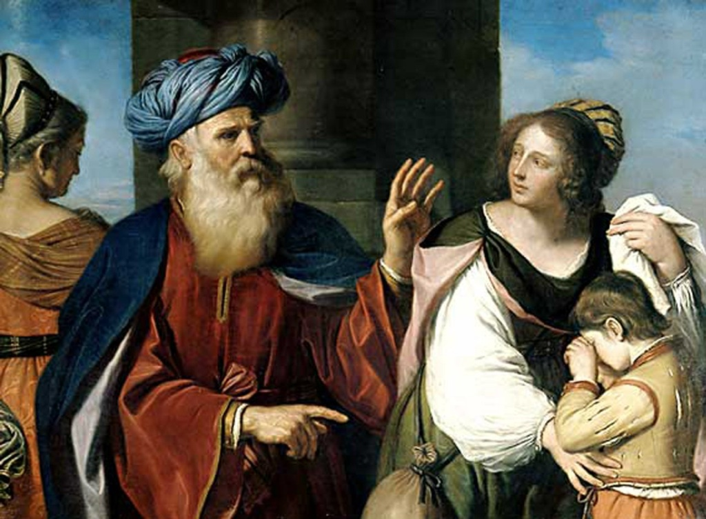 "Гверчино, Джованни Франческо Барбьери ""Abraham Casting Out Hagar and Ishmael""."