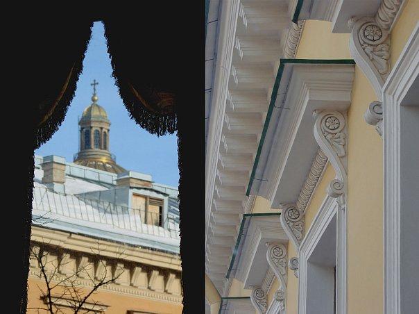 Вид из эркера особняка Половцова на Большую Морскую улицу