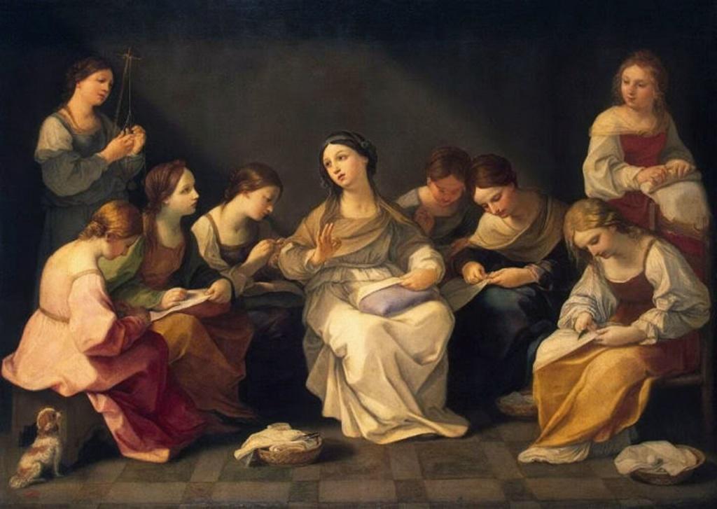 """Гвидо Рени. """"Юность Марии"""" из собрания Государственного Эрмитажа. Какое благолепие в изысканной тональности."""