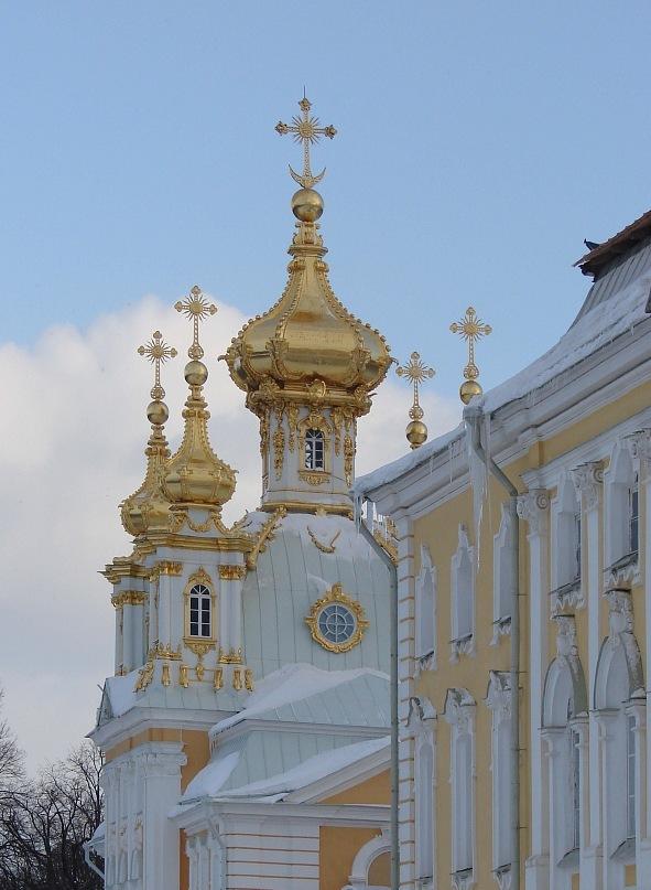 Большой Петергофский дворец. Церковный павильон. Арх. Франческо Бартоломео Растрелли. 1745-1755 годы