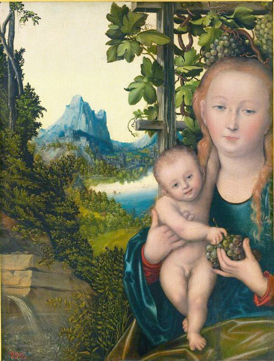 «Мадонна с Младенцем (Мадонна в винограднике)» (около 1522–1523)