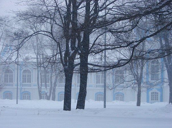 Санкт-Петербург. Смольный монастырь. Райский сад внутри монастырских стен.